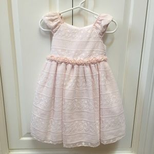 Flower Girl Outfit~ Laura Ashley Pink Dress 2T